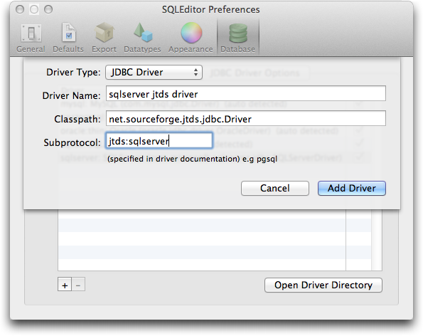 How to load jdbc driver dynamically